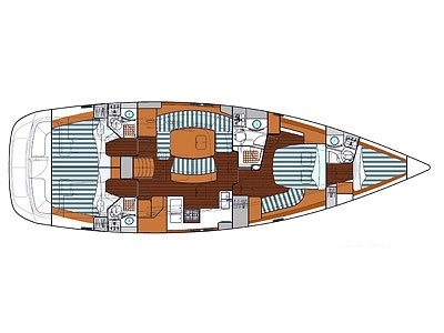<b>OCEANIS Clipper 523, 2008</b> - Crewed Yachts - Layout